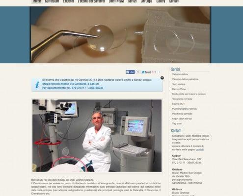 Oculista Mattana - Website - by Lycnos